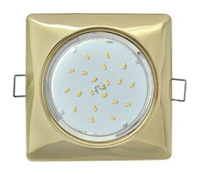 Ecola GX53 H4  Square светильник квадратный без рефл. Золото 107x41 - Олимп-Зеленоград