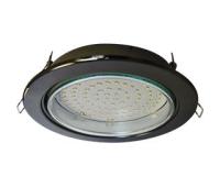 Встраиваемый потолочный точечный светильник-спот Экола GX70 H5 без рефлектора. Черный Хром. - Олимп-Зеленоград
