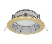 Встраиваемый потолочный точечный светильник-спот Экола GX70 H6Rс рефлектором. Золото - Олимп-Зеленоград