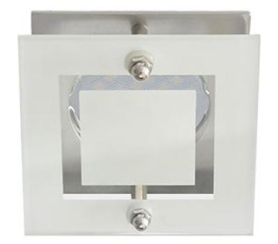 Ecola MR16 DL200 GU5.3 Glass Квадрат со стеклом Прозрачный и Матовый / Хром 45x77x77 - Олимп-Зеленоград