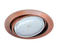 Ecola GX53 FT9073 светильник встраиваемый поворотный черненая медь (antique copper) 40x120 - Олимп-Зеленоград