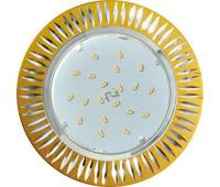 Ecola GX53 H4 DL5383  светильник встраив. без рефл. Рифленые реснички матовое Золото/Алюм 20x110 (к+) - Олимп-Зеленоград