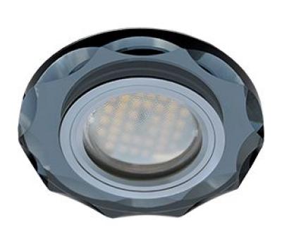 Ecola MR16 DL1653 GU5.3 Glass Стекло Круг с вогнутыми гранями Черный / Черный хром 25x90 - Олимп-Зеленоград