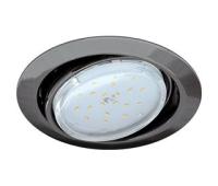 Ecola GX53 FT9073 светильник встраиваемый поворотный черный хром 40x120 - Олимп-Зеленоград