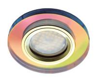 Ecola MR16 DL1650 GU5.3 Glass Стекло Круг Мультиколор / Золото 25x95 - Олимп-Зеленоград