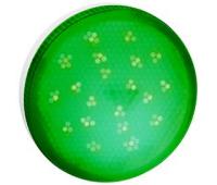 Ecola GX53   LED color  8,0W Tablet 220V Green Зеленый матовое стекло (композит) 28x74 - Олимп-Зеленоград