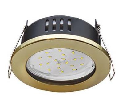Ecola GX53 H9 защищенный IP65 светильник встраив.  без рефлектора золото 98*55 - Олимп-Зеленоград