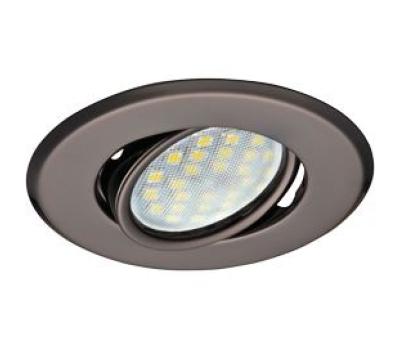 Светильник Ecola MR16 DH09 GU5.3 встр. поворотный плоский (скрытый крепеж лампы) Черный Хром 25x90 - Олимп-Зеленоград
