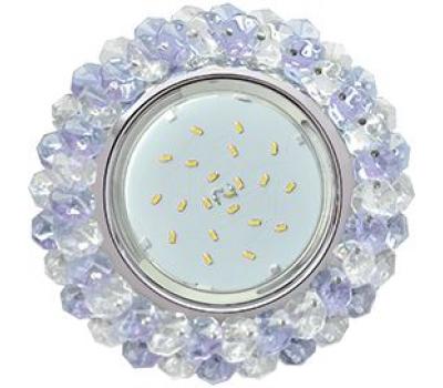 Ecola GX53 H4 Glass Круглый с хрусталиками прозрачный и аметист / Хром 56x120 - Олимп-Зеленоград