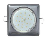 Ecola GX53 H4  Square светильник квадратный без рефл. Черный хром 107x41 - Олимп-Зеленоград