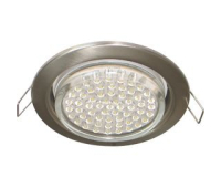 Ecola GX53 H4 светильник встраив. без рефл. satin chrome  38х106 - 2 pack - Олимп-Зеленоград