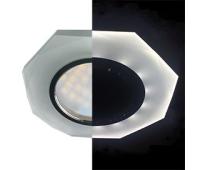 Ecola MR16 LD1652 GU5.3 Glass Стекло с подсветкой 8-угольник с прямыми гранями Матовый / Хром 25x90 (кd74) - Олимп-Зеленоград