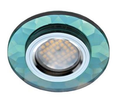 Ecola MR16 DL1654 GU5.3 Glass Стекло Круг граненый Изумруд / Хром 25x90 - Олимп-Зеленоград