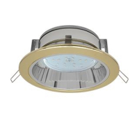 Встраиваемый потолочныйсветильник-спот Ecola GX53 H2R.C рефлектором. Цвет - Золото. - Олимп-Зеленоград