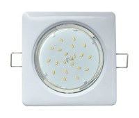 Ecola GX53 H4  Square светильник квадратный без рефл. Белый  107x41 - Олимп-Зеленоград