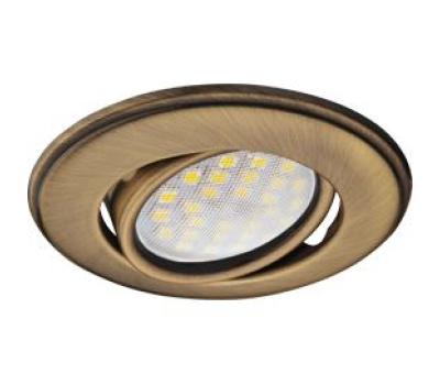 Светильник Ecola MR16 DH03 GU5.3 встр. поворотный выпуклый (скрытый крепеж лампы) Бронза 25x88 - Олимп-Зеленоград
