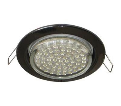 Ecola GX53 H4 светильник встраив. без рефл. черный хром 38х106 - 2 pack - Олимп-Зеленоград