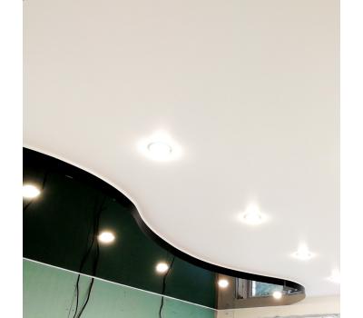 Двухуровневый натяжной потолок 1 м² (всё включено) - Олимп-Зеленоград